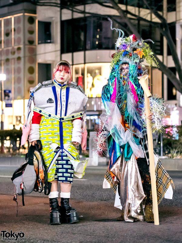 Handmade & Remake Japanese Street Styles w/ Flower Headdress, Model Trains & Platform Boots
