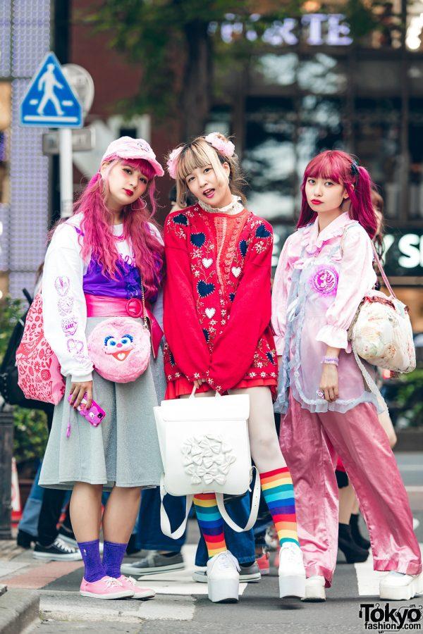Kawaii Pink Harajuku Vintage & Handmade Street Styles w/ Kinji, Southpaw Cathy, Kilo Shop, Tokyo Bopper, Punyus & Kobinai