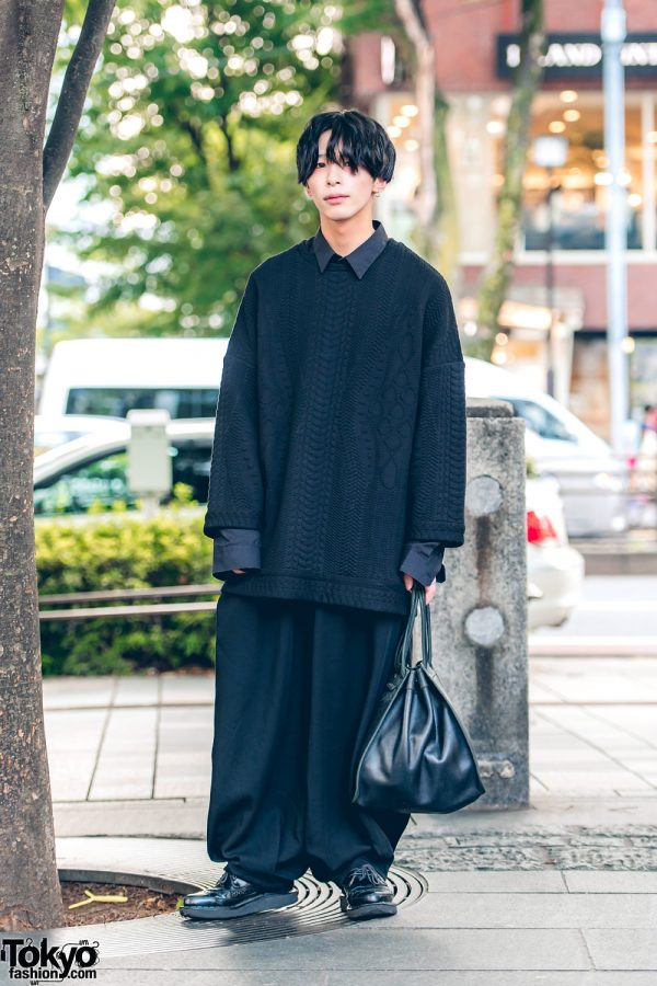 All-Black Menswear Street Style w/ Ceci, Kujaku, Gucci & George Cox
