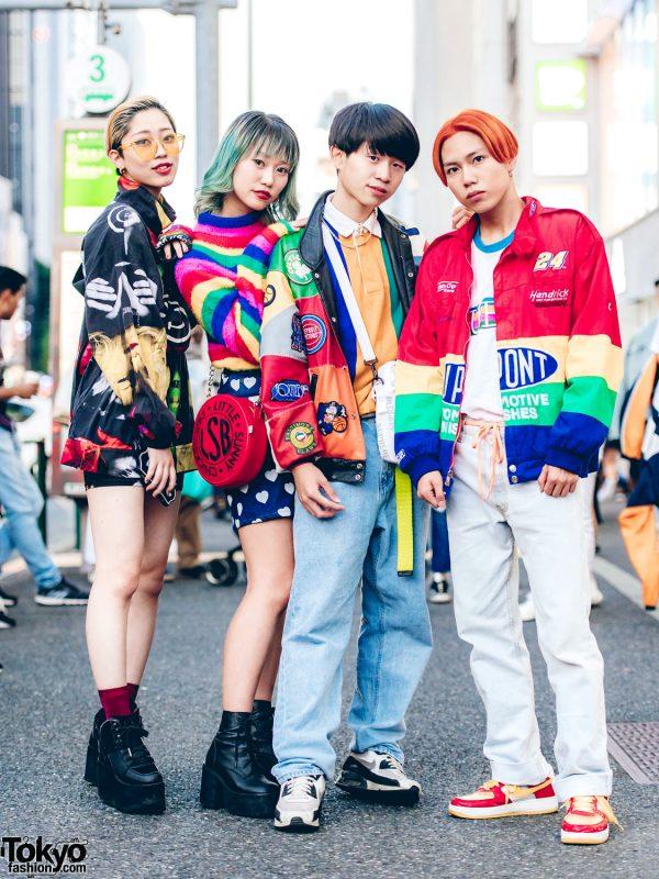 Harajuku Friends in Colorful Streetwear w/ Nieuw Jurk, Little Sunny Bite, Supreme & Moschino