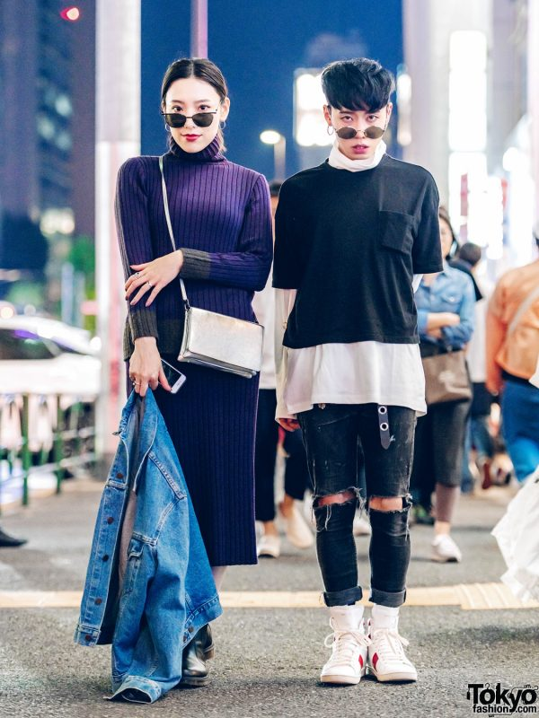 Harajuku Duo in Dark Streetwear w/ The Symbolic Tokyo, Dr. Martens, Chrome Hearts, Yves Saint Laurent & Black Means