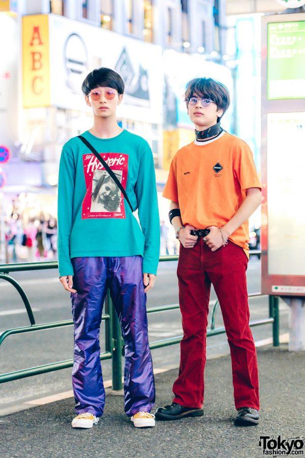 Harajuku Teens in Colorful Menswear Street Styles