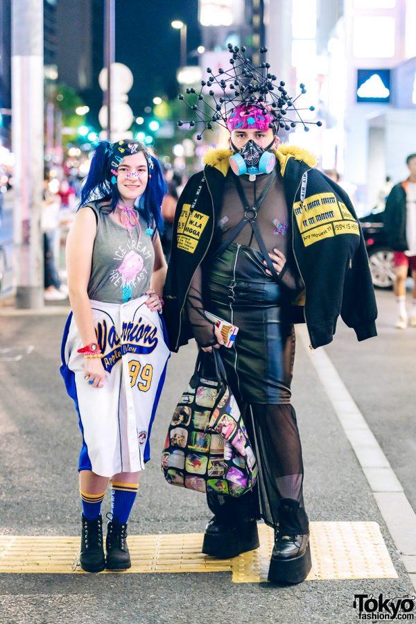 Harajuku Duo's Avant-Garde Streetwear Fashion w/ W.I.A, Buffalo, Funktique Tokyo, Jeremy Scott, Broken Doll & Moschino