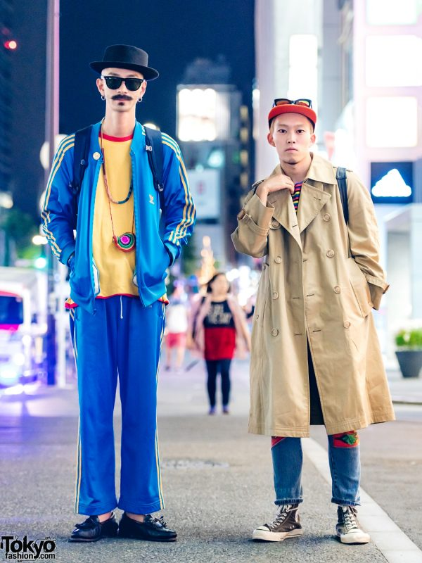 Harajuku Guys in Street Styles w/ Adidas, Ray-Ban, Dexter, Uniqlo x JW Anderson, Marc by Marc Jacobs, ADSR, 80's Converse & 80's Nike