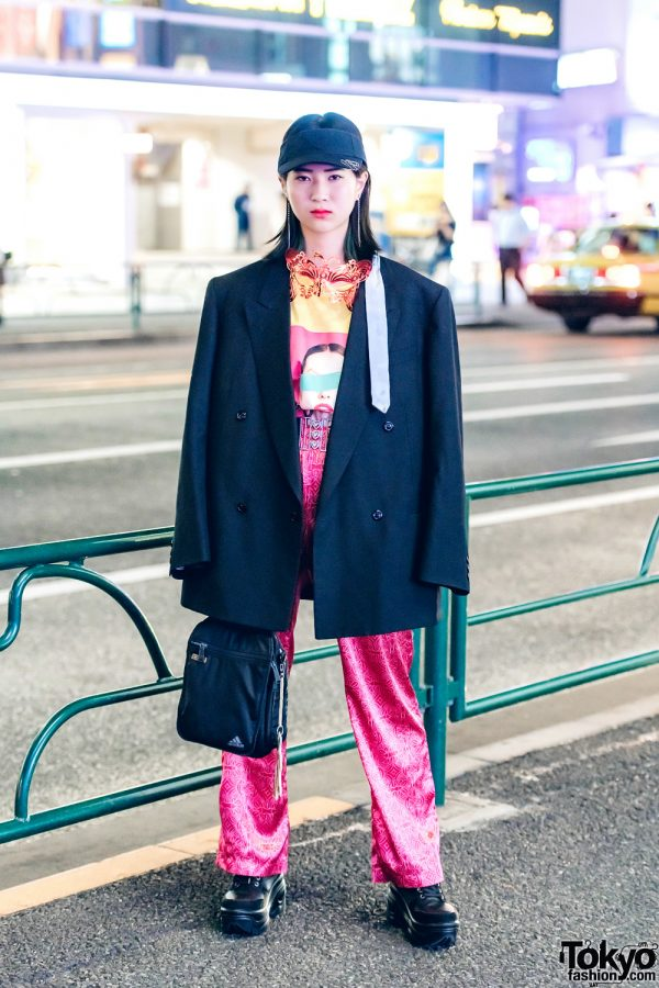 Oversized Blazer Fashion in Harajuku w/ Adidas, WEGO, G2?, Forever21 & Romantic Standard