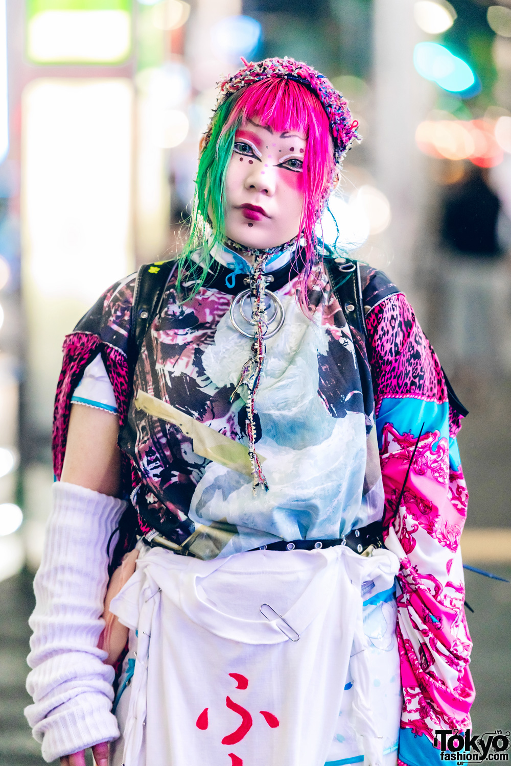 Colorful Japanese Avant-Garde Street Fashion W/ Dog