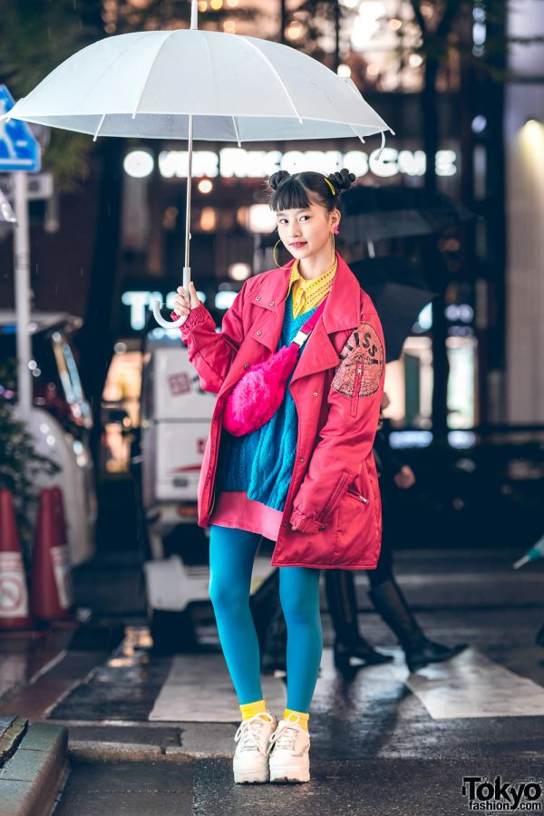 Japanese Teen Model & Actress A-pon in Bold Colors w/ RRR Show Room, Forever21, Thank You Mart, Chicago, Claire's & Peco Club