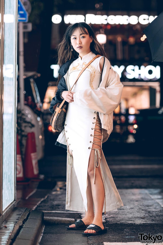 Dynasti Fashion Designer Ile in Street Style Fashion w/ Nike, Dynasti & Louis Vuitton