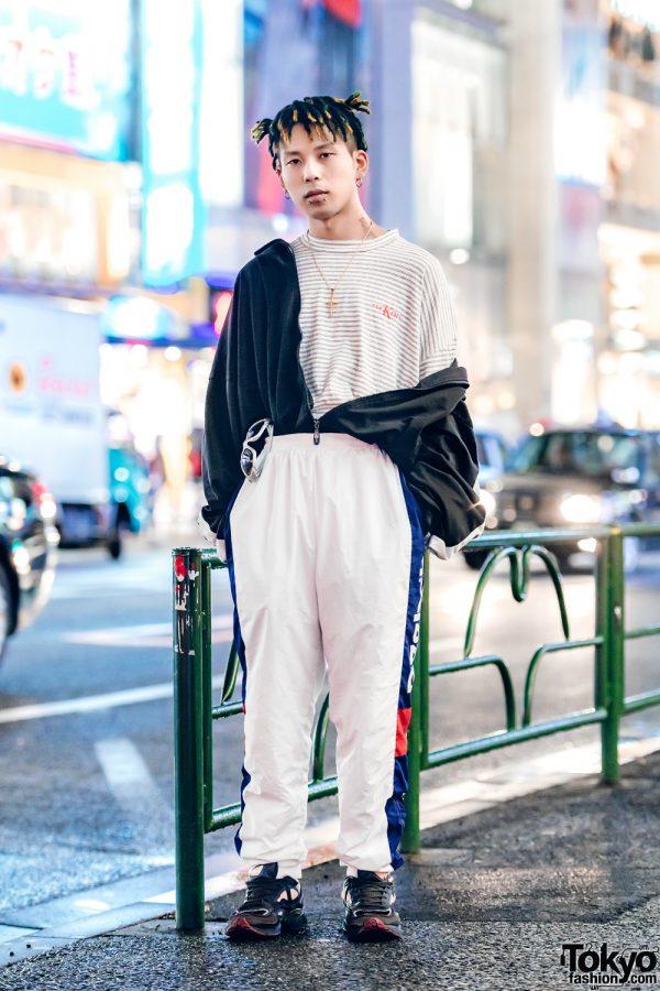 Kinji Harajuku's Yuuta in Casual Sportswear Style w/ Reebok, Ground Zero & Raf Simons