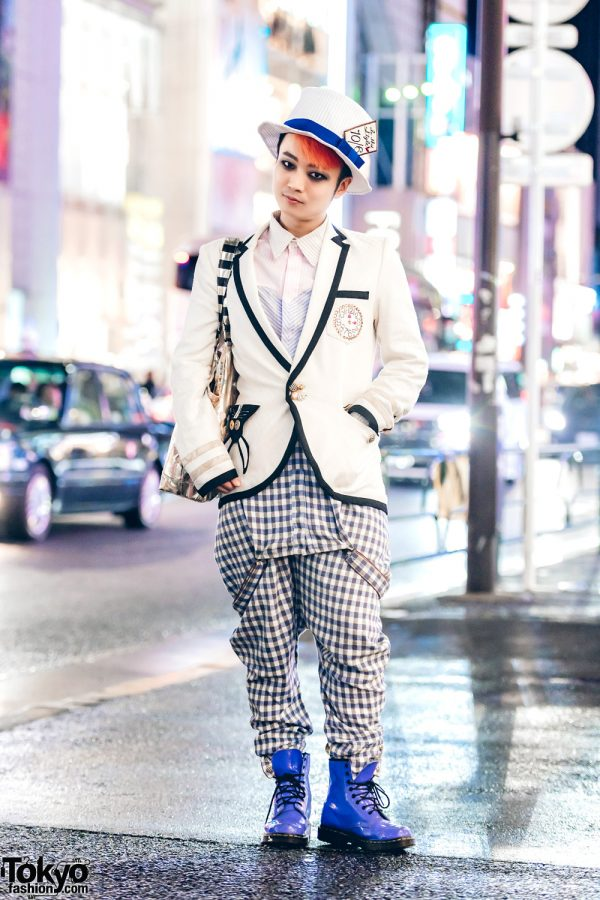 Japanese DJ in Mad Hatter Inspired Harajuku Street Style w/ Malko Malka & Dr. Martens