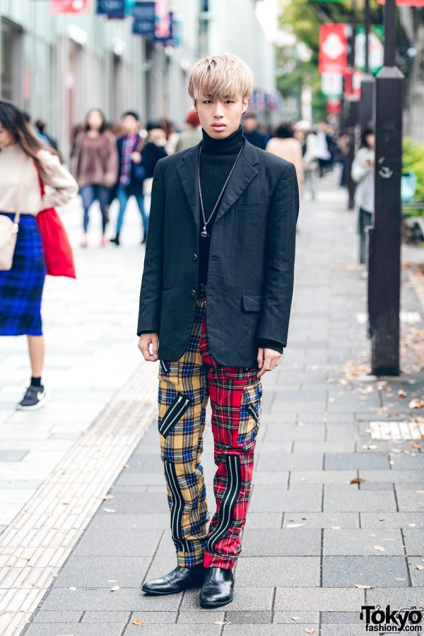 Plaid Street Style in Harajuku w/ Comme des Garcons, Tiger of London, Vanquish & Vivienne Westwood