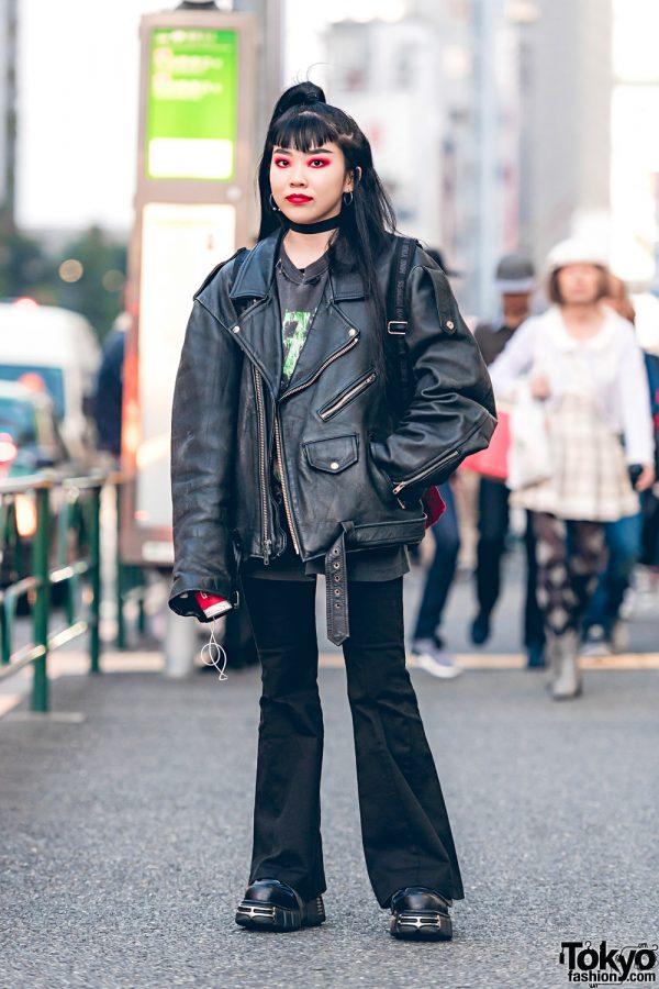 Harajuku Shop Staff in Dark Streetwear Fashion w/ M.Y.O.B, Faith Tokyo & New Rock
