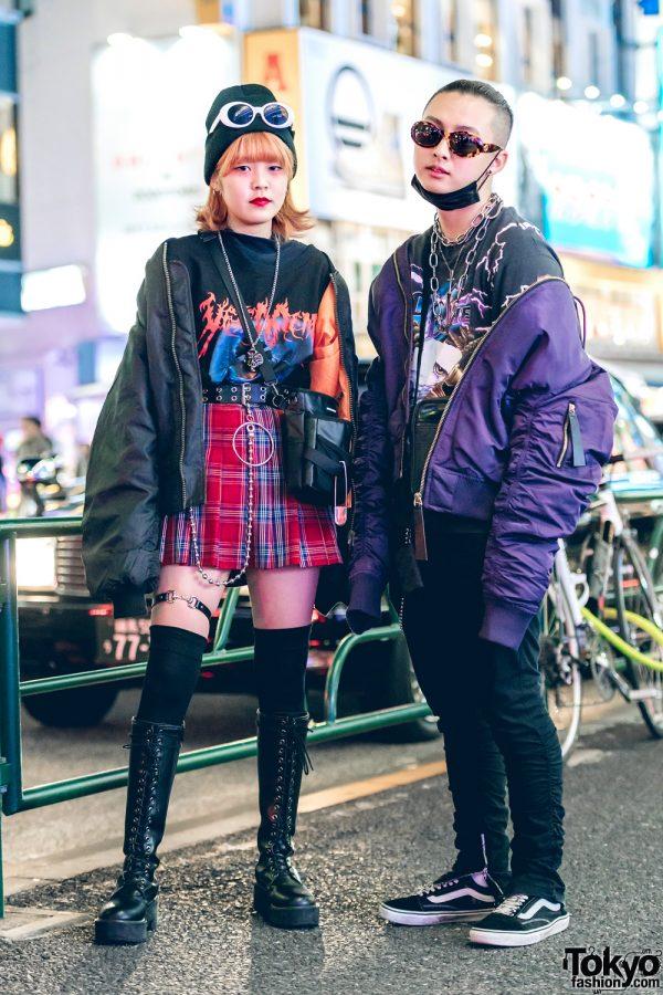 Harajuku Duo in Dark Streetwear Fashion w/ Don Quixote, Vetememes, WEGO, Open The Door, Kinji, H&M, Gucci & Vans