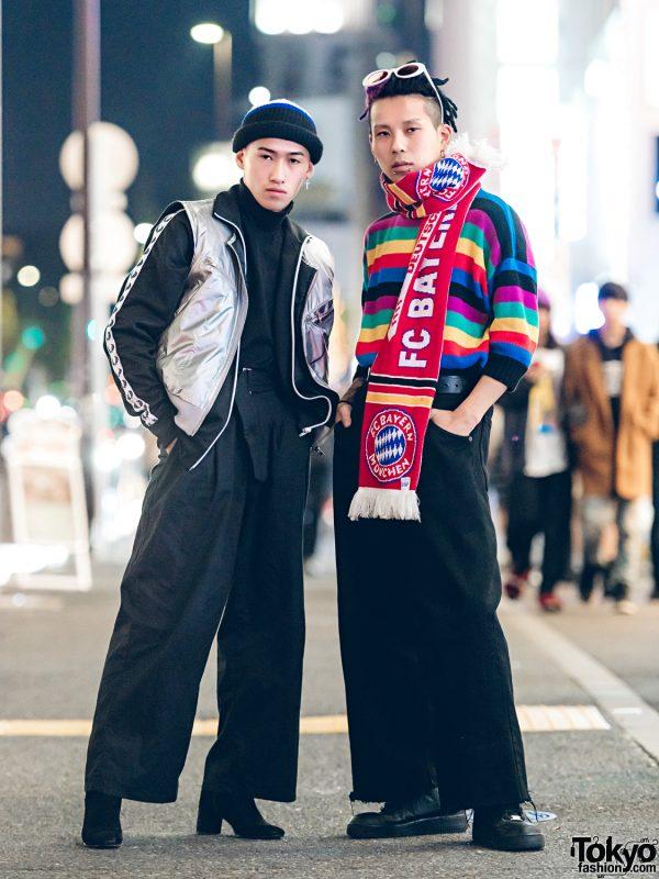 Harajuku Duo in Stylish Menswear Vintage Street Fashion