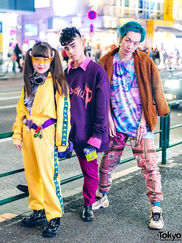 Japanese Teen Trio in Fun & Colorful Streetwear Styles