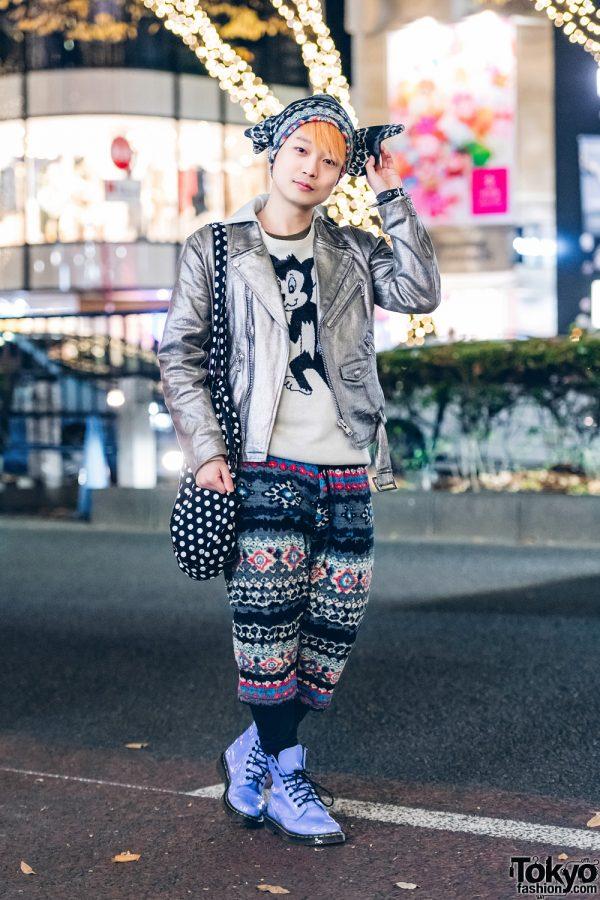Harajuku Street Fashion by Japanese Brand MILKBOY & Silver HellcatPunks Jacket