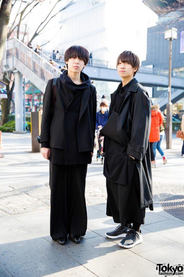 All Black Minimalist Winter Fashion w/ Domon, S'yte, Ethosens, LAD Musician & Y-3