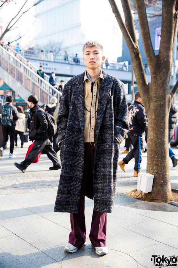 Japanese Hair Stylist in Winter Retro Fashion w/ John Lawrence Sullivan, JieDa, Diff Limen & Raf Simons