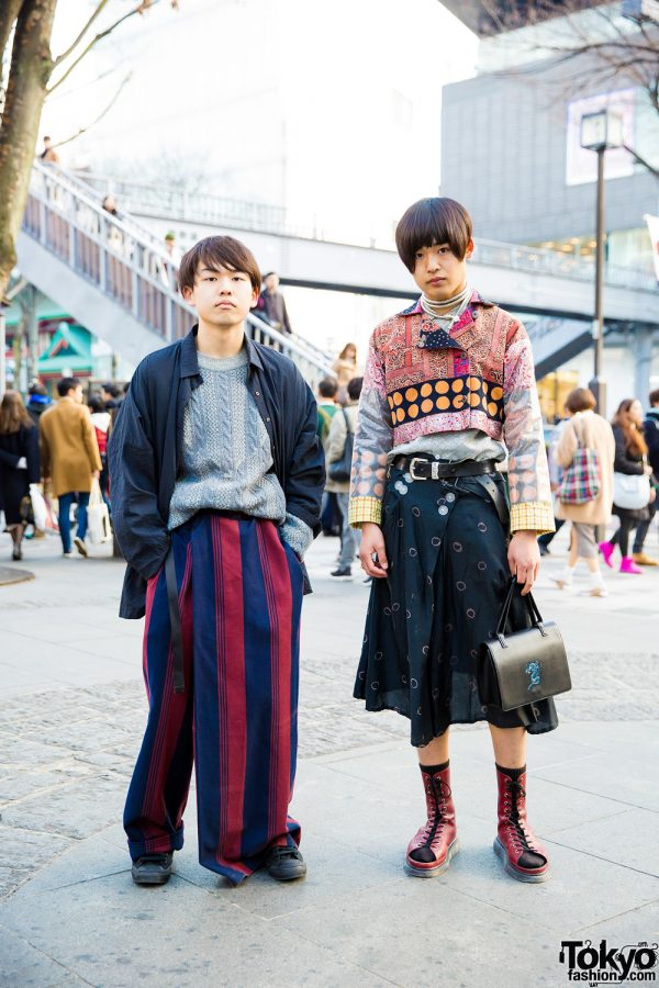Japanese Mixed Prints Streetwear w/ Issey Miyake, Christian Dior, Converse, Jean Paul Gaultier, Dr. Martens, Levi's & Y's