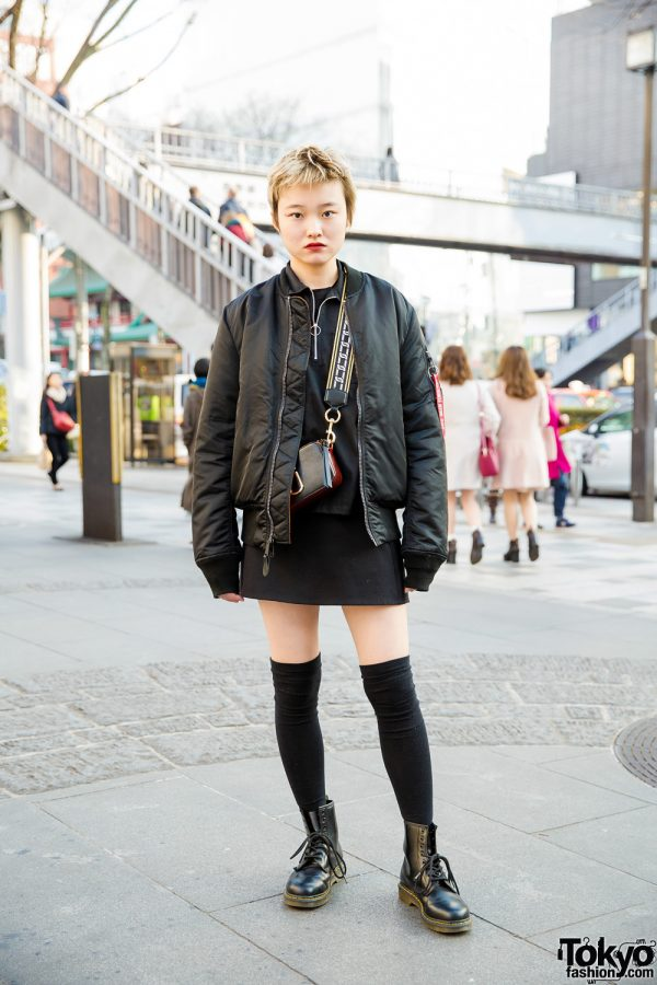 Chic All Black Streetwear w/ Opening Ceremony, X-Girl, Marc Jacobs & Dr. Martens