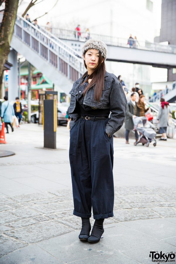 Stylish Black Street Style in Harajuku w/ Issey Miyake, Marc Jacobs, Yohji Yamamoto, Chanel & Kinji