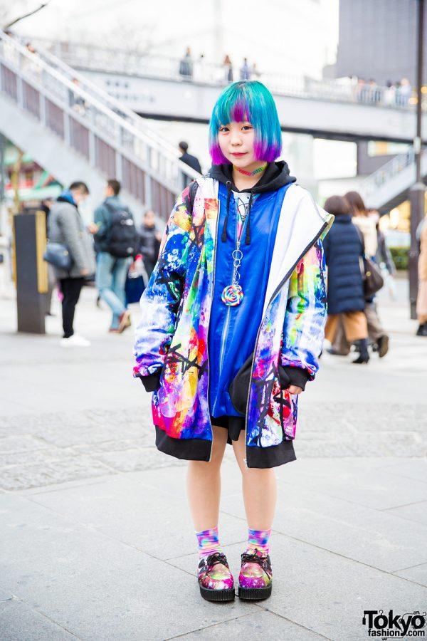 Super Colorful Harajuku Street Style w/ AnkoROCK, Gekirock Clothing & ACDC Rag