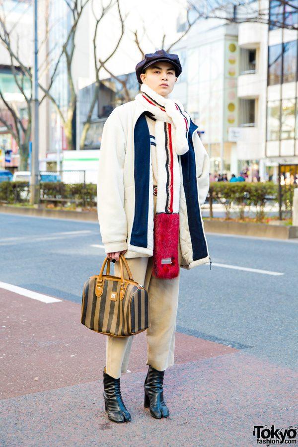 Japanese Model in Stylish Knit Wear w/ Converse, Vans & Maison Margiela
