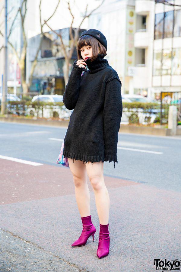 Perverze Distressed Sweater Harajuku Street Style w/ Vivienne Westwood & UNIF