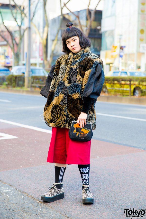 Harajuku Street Fashion w/ Punk Cake Jacket, Haruka Mon Design & Animal Prints