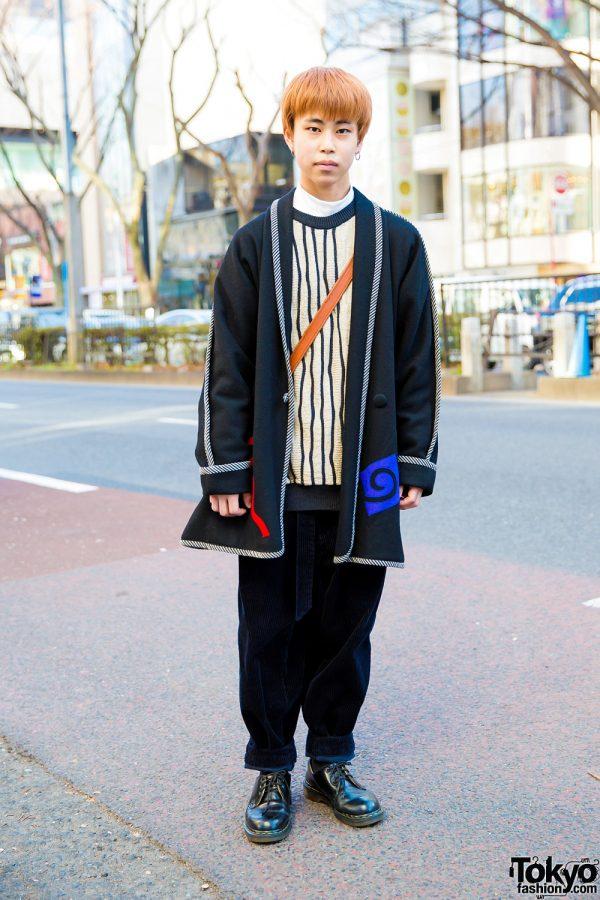 Harajuku Guy in Layered Winter Fashion w/ Libert, Coach & Dr. Martens