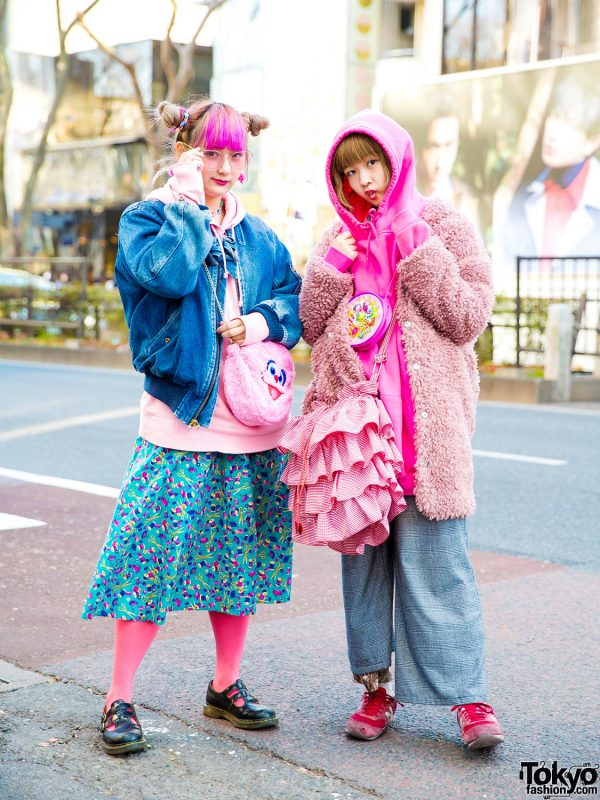 Colorful Kawaii Harajuku Vintage Street Fashion w/ Pink House, Southpaw Cathy, Mercari, Claire's, Burlesque, Spinns & Swimmer