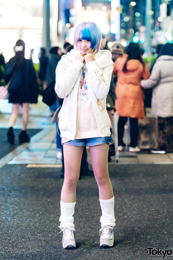 Self-Produced Japanese Idol in Casual Pastel Street Style w/ Ank Rouge, Vivienne Westwood, Justin Davis, WC, Forever21 & Tatsumi Tsurushima