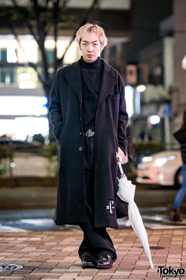 All-Black Harajuku Vintage Streetwear w/ MISBHV, Comme des Garcons, Paul Smith & White Umbrella