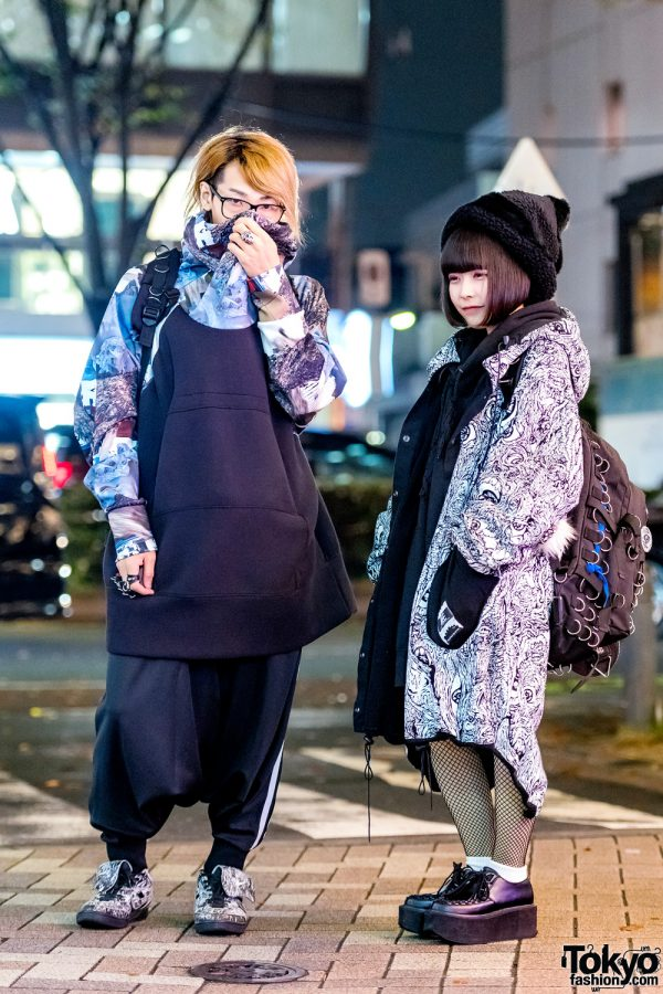 Harajuku Duo in Printed Street Style w/ M:E, Elephant Tribal Fabrics, Yosuke, Siiwa, Goregro, Balmung, Niitu & Matte Brindle