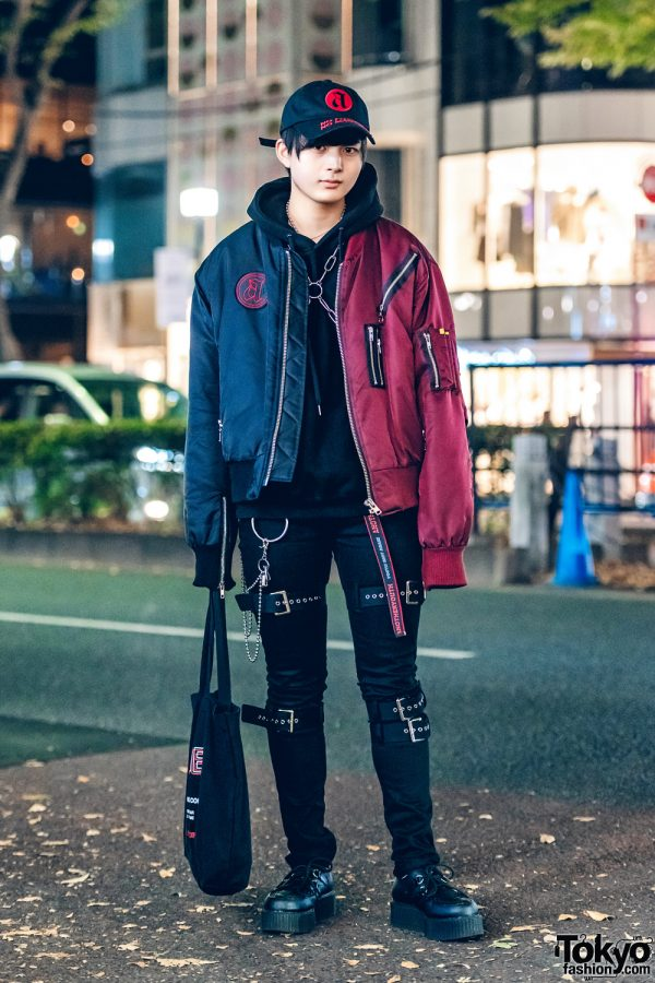 Harajuku Guy in Japanese Two-Tone Streetwear Style w/ Another Youth, Demonia & Basic Cotton