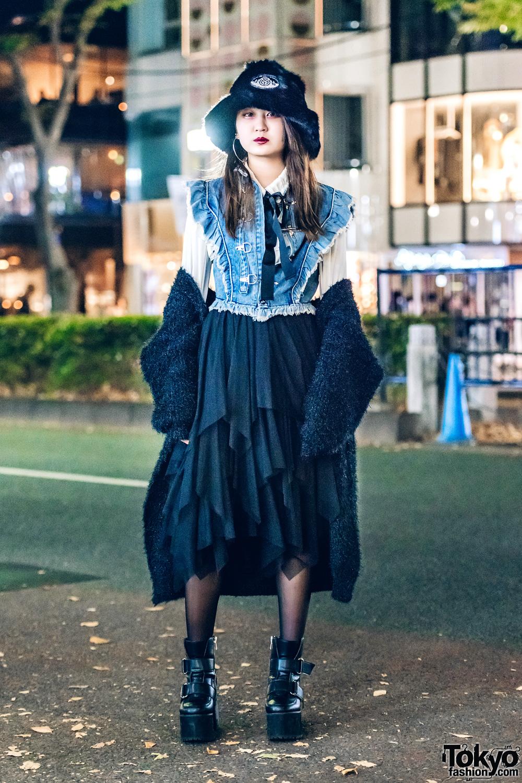 0adc2a22b27 Faux Fur Harajuku Streetwear w  E-Hyphen World Gallery BonBon ...