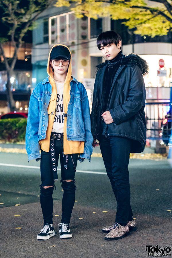 Layered & All Black Harajuku Street Styles w/ H&M, Moschino, UNIQLO, Revenge Storm, Chrome Hearts, Comme Ca Du Mode, Giuseppe Zanotti, Zara & Gucci
