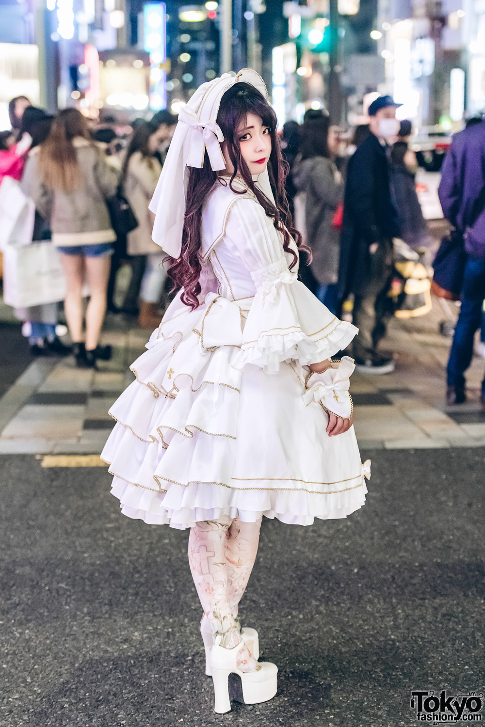 All White Japanese Lolita Fashion W Metamorphose Temps De