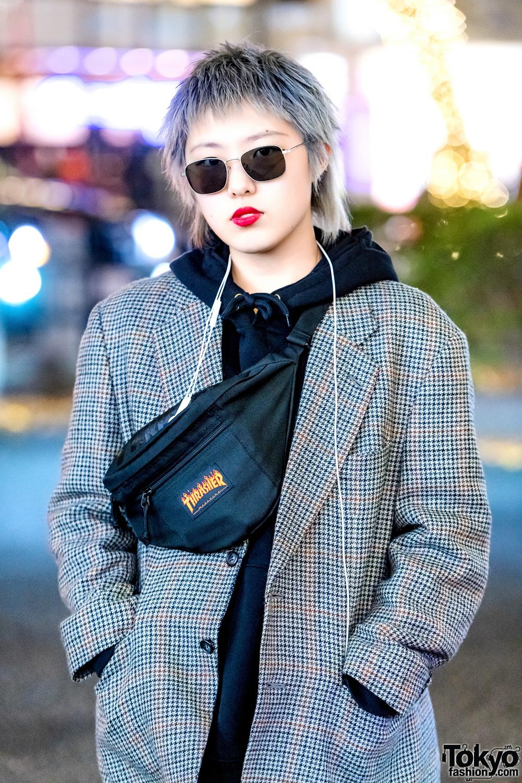 Distressed Japanese Street Style w/ Ripped Sweatshirt, Cut