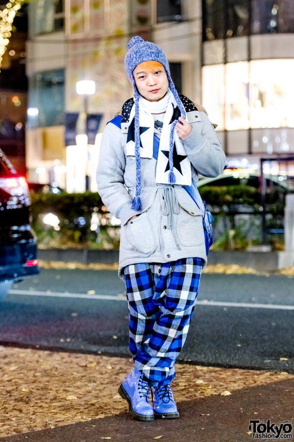 Blue & Purple Harajuku Winter Streetwear Style w/ MalkoMalka & Milkboy