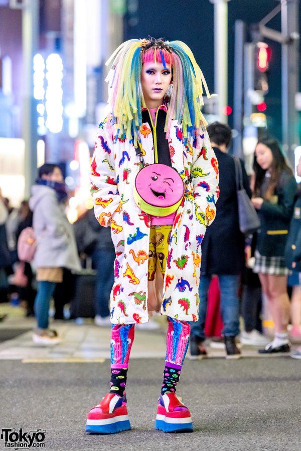 Kawaii Harajuku Street Style w/ Dinosaur Coat, 6%DOKIDOKI, Little Miss Matched & Hair Falls