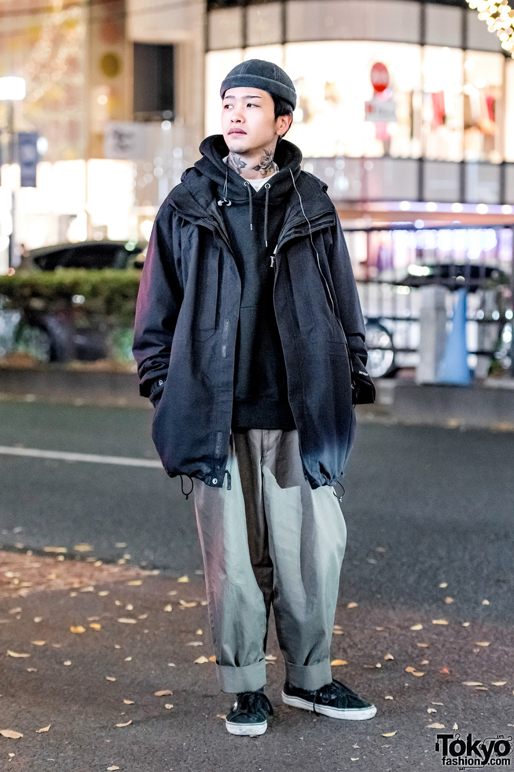 af0882095 Minimalist Vintage Streetwear Style w/ Neck Tattoos, The North Face, Comme  des Garcons & Vans