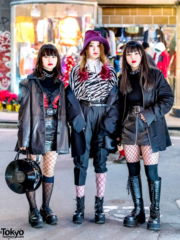 Harajuku Streetwear Styles w/ Never Mind the XU, Comme des Garcons, X-Girl, Faith Tokyo, Bubbles, Vivienne Westwood, Demonia & Peco Club