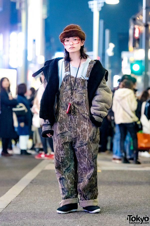 Harajuku Guy in Oversized Vintage Street Style w/ Avirex & San To Nibun No Ichi