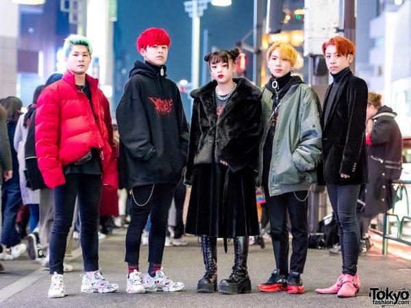 Harajuku Teen Street Style Squad w/ Balenciaga, Raf, Demonia & Vetements