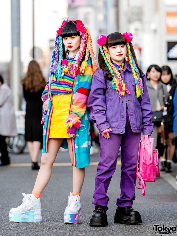 Kawaii Harajuku Street Styles w/ 6%DOKIDOKI Accessories, Colorful Hair Falls, Kiki, New York Joe & YRU