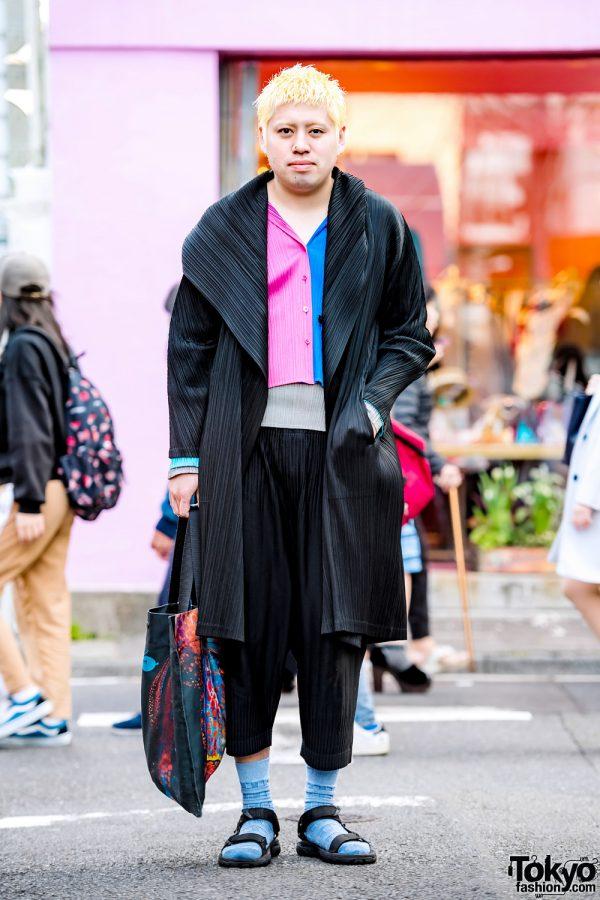 Issey Miyake Pleats Please Streetwear Style in Harajuku