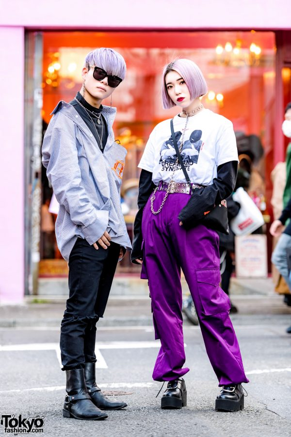 Purple Haired Harajuku Streetwear W Another Youth More