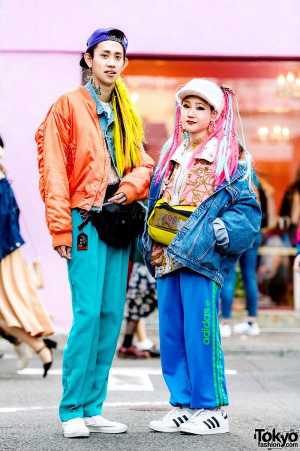 Japanese Duo w/ Colorful Hair & Vintage Streetwear Styles