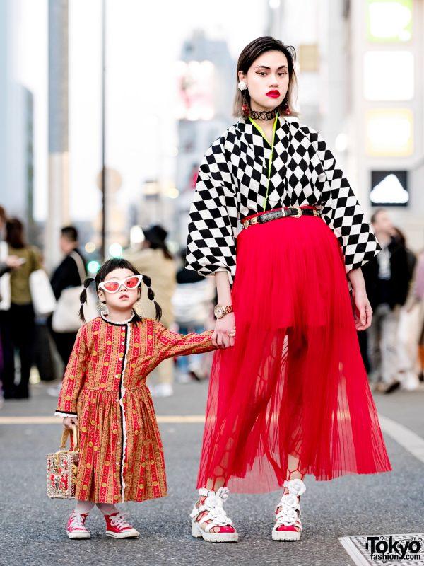 The Ivy Tokyo Designer Mother & Daughter Vintage Kimono Top Harajuku Street Styles